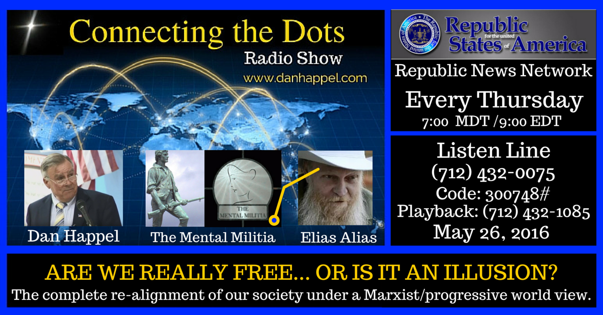 May 26 2016 Elias Alias and mental militia connecting the dots with dan happel